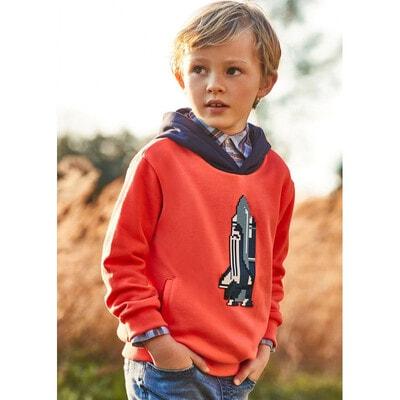 Пуловер, з капюшоном, утеплений, Кораловий, Mayoral Іспанія, 22OZ