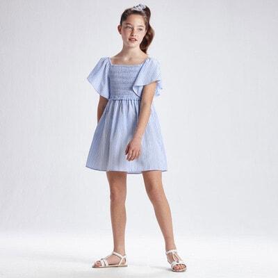 Сукня, в білу смужечку, Блакитний, Mayoral Іспанія, 21VL