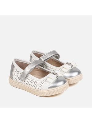 Туфлі, з білими вставками, Сріблястий, Mayoral Іспанія, 19VL