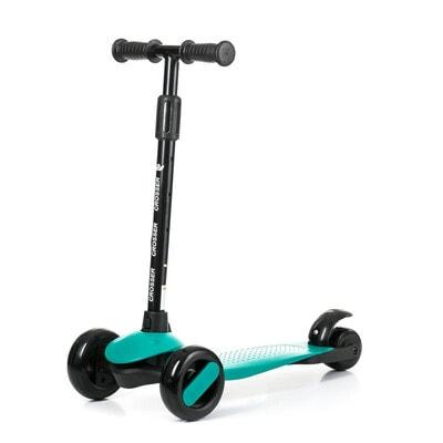 ІГРАШКА Самокат, Crosser (фіксація колес, регулюється висота ручки, світло), Зелений, Babyhit Польща