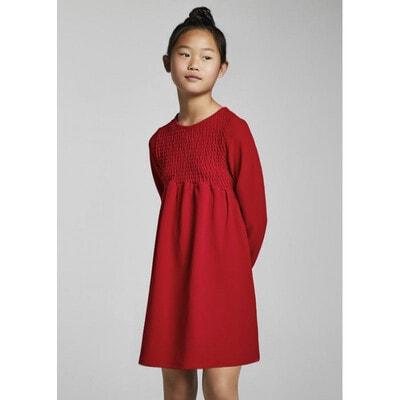 Сукня, довгий рукав, Червоний, Mayoral Іспанія, 22OZ
