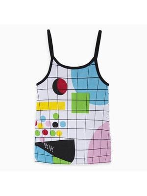 Сукня, Сарафан в клітину (геометричні фігури), Білий, TucTuc Іспанія, 20VL