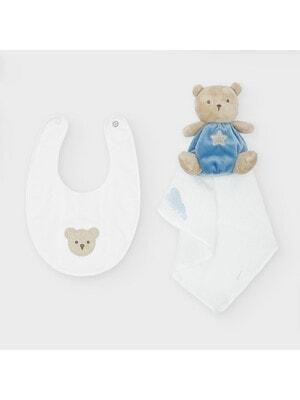 Аксесуари, М'яка іграшка + нагрудний фартук, Блакитний, Mayoral Іспанія, 21OZ