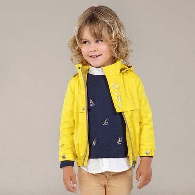 Куртка, з капюшоном, Жовтий, Mayoral Іспанія, 20VL
