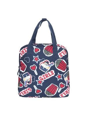 Рюкзак  (червоні написи, зірочки), Темно-синій, TucTuc Іспанія, 20OZ