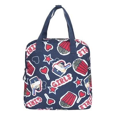 Рюкзак (красные надписи, звездочки), Темно-синий, TucTuc Испания, 20OZ