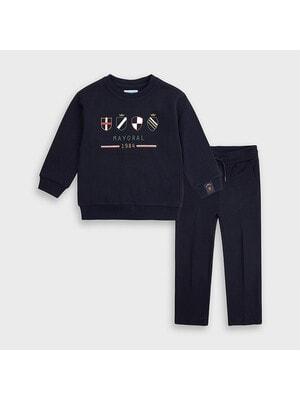 Комплект Спортивный, Пуловер + брюки, темно-синий, Mayoral Испания, 21OZ