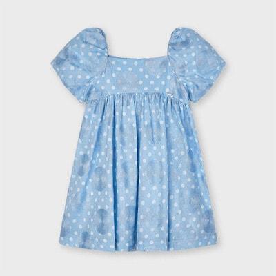 Сукня, в білий горох, Блакитний, Mayoral Іспанія, 21VL