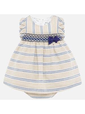 Сукня в синю смугу, Бежевий, Mayoral Іспанія, 20VL