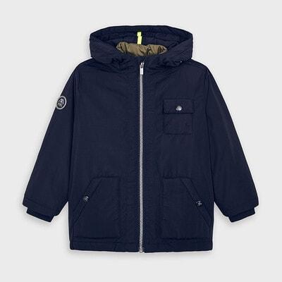 Куртка, з капюшоном, в комплекті жилет, відстібається, Темно-синій, Mayoral Іспанія, 21OZ
