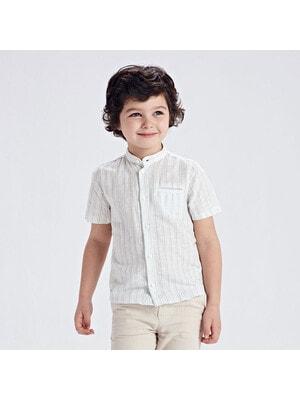 Сорочка, короткий рукав, в смужечку, Білий, Mayoral Іспанія, 21VL