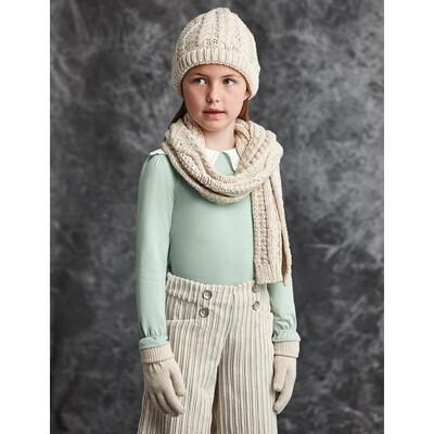 Головний убір Комплект, Шапка + шарф + рукавички, Бежевий, Abel & lula Іспанія, 22OZ