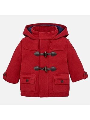 Пальто, з капюшоном, Бордовий, Mayoral Іспанія, 19OZ
