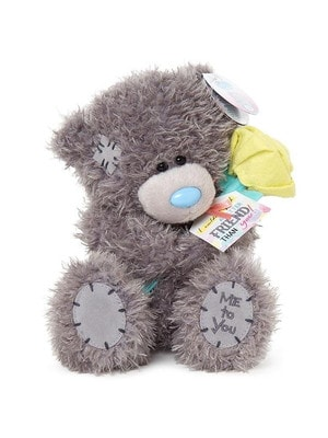 Іграшка М'яка, Ведмедик Тедді з квіточкою другові / подрузі, 18 см, Me To You Великобританія