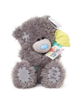 Игрушка Мягкая, Мишка Тедди с цветочком другу / подруге, 18 см, Me To You Великобритания