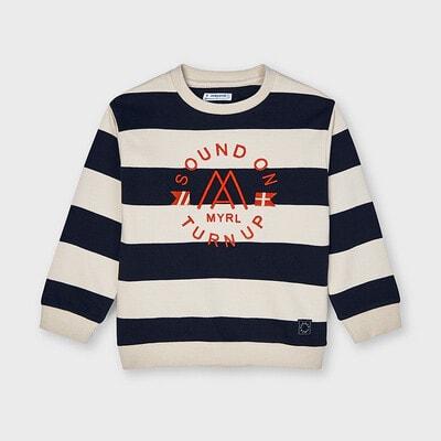 Пуловер, в чорну смугу, Бежевий, Mayoral Іспанія, 21VL