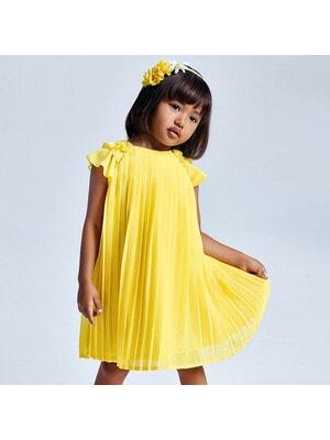 Сукня, в складочку, Жовтий, Mayoral Іспанія, 21VL