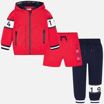 Комплект Спортивный, Кофта + штани + шорти, Червоний, Mayoral Іспанія, 19VL