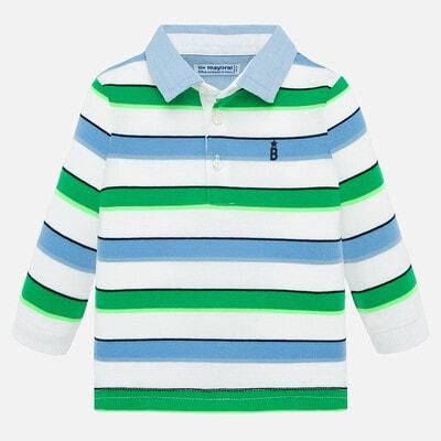 Джемпер, POLO  в зелені та сині смуги, Білий, Mayoral Іспанія, 20VL