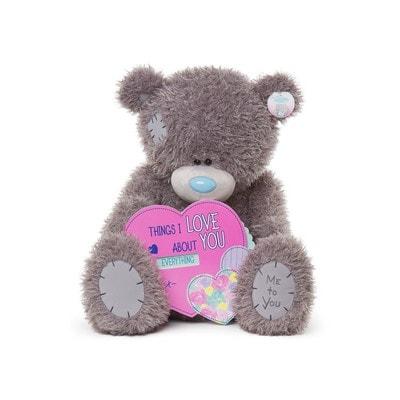 """Іграшка М'яка, Ведмедик Тедді з дерев'яною табличкою """"Я кохаю Тебе""""  71 см, Me To You Великобританія"""