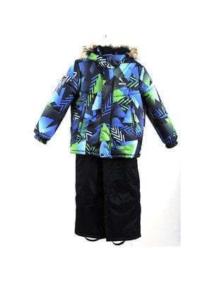 Комплект, Куртка  (зелено-синя абстракція) + напівкомбінезон ROBIS, Темно-синій, Lenne Естонія, 20OZ