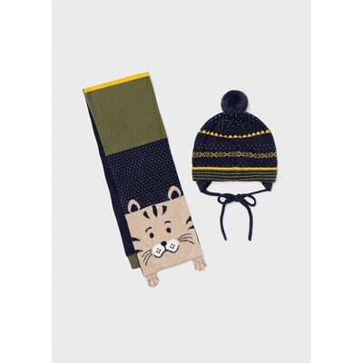 Головний убір Комплект, Шапка + шарф, Зелений, Mayoral Іспанія, 22OZ