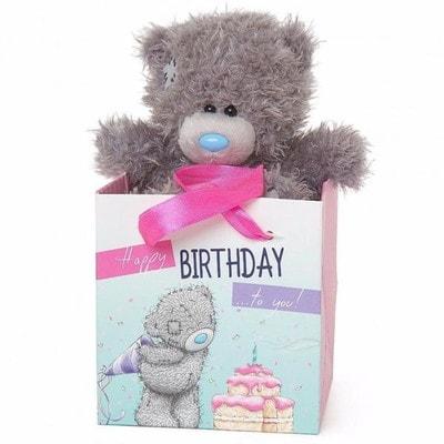 """Іграшка М'яка, Ведмедик Тедді в коробочці  """"Happy Birtday"""" , 13 см, Me To You Великобританія"""