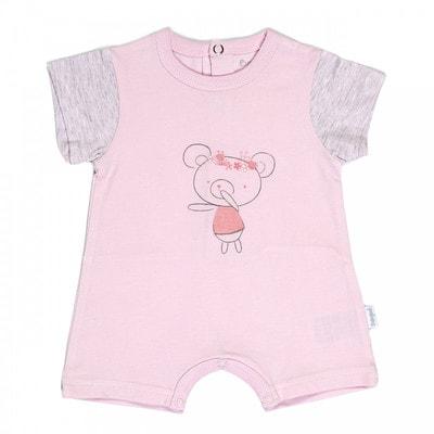 Комбінезон короткий рукав (ведмедик), Рожевий, Babybol Іспанія, 19VL