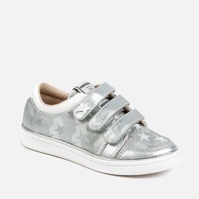 Кросівки, в зірочках, Сріблястий, Mayoral Іспанія, 20VL