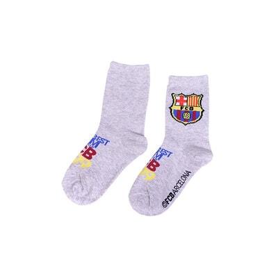 Шкарпетки, FC Barcelona, світлі, Сірий, Disney Польща, 21OZ