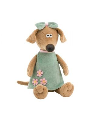 Игрушка Мягкая, Собака-Жужа в зеленом платье, 30см, ORANGE Китай