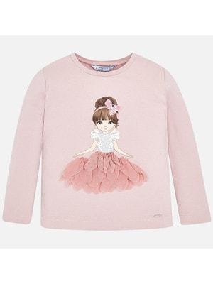 Джемпер, дівчинка в рожевому, Рожевий, Mayoral Іспанія, 20OZ
