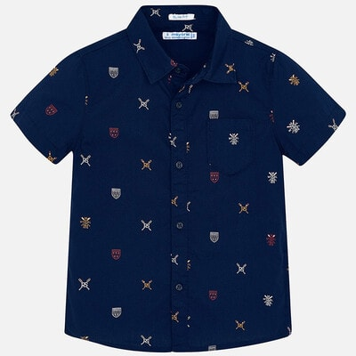 Сорочка, короткий рукав, Темно-синій, Mayoral Іспанія, 20VL