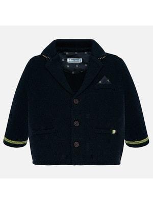 Піджак, в'язаний, Темно-синій, Mayoral Іспанія, 20OZ