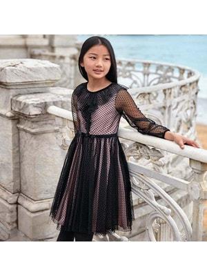 Сукня, довгий рукав, Чорний, Mayoral Іспанія, 20OZ