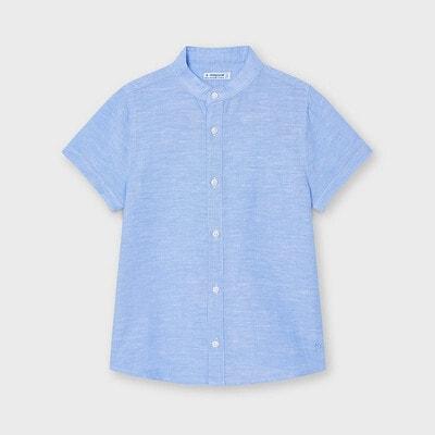 Сорочка, короткий рукав, Блакитний, Mayoral Іспанія, 21VL