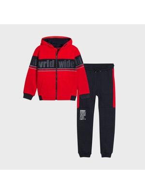 Комплект Спортивный, Кофта + темно-синие брюки, Красный, Mayoral Испания, 21OZ