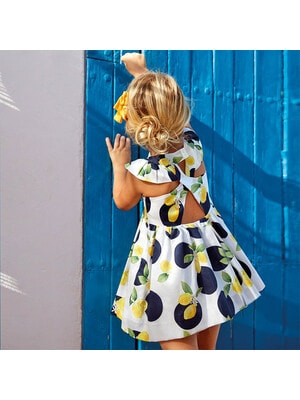 Сукня, в лимонах, Білий, Mayoral Іспанія, 20VL