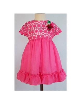 Сукня, верх мереживний (брошка квіти), Рожевий, Daga Польща, 19VL