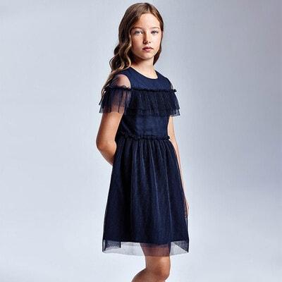 Сукня, Темно-синій, Mayoral Іспанія, 21VL