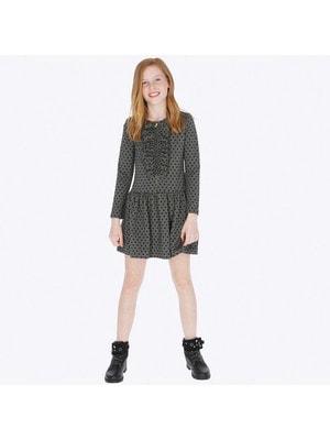 Сукня, короткий рукав (в горошок), Темно-сірий, Mayoral Іспанія, 20OZ