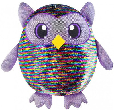 Іграшка М'яка Яскрава СОВА з пайетками (36см)