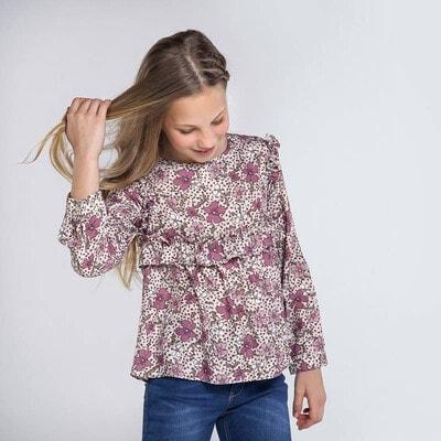 Блуза, в квітах, Рожевий, Mayoral Іспанія, 21OZ