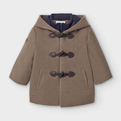 Пальто, з капюшоном, Сірий, Mayoral Іспанія, 21OZ