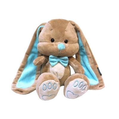 Іграшка М'яка, Зайчик Жак з блакитним метеликом, 25 см, 3+, Jack Lin КНР