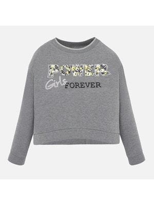 Пуловер, (сріблястим Girls), Сірий, Mayoral Іспанія, 20OZ