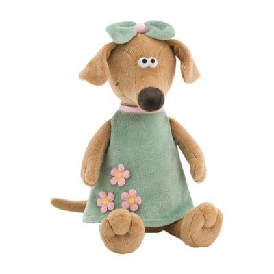 Игрушка Мягкая, Собака-Жужа в зеленом платье, 42см, ORANGE Китай