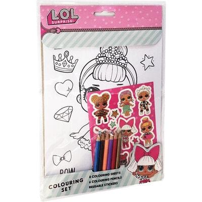 ІГРАШКА Набір Для творчості, Для малювання + наклейки L.O.L SURPRISE, MGA США