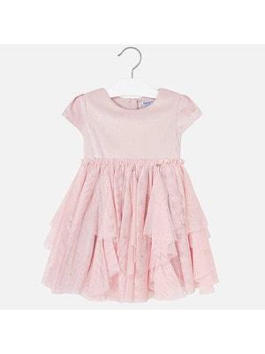 Сукня, короткий рукав (знизу фатин), Рожевий, Mayoral Іспанія, 20OZ