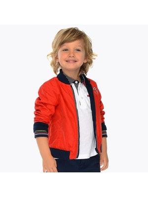 ОДЯГ Хлопчик Верхній Куртка, двостороння, Червоний, Mayoral Іспанія, 19VL